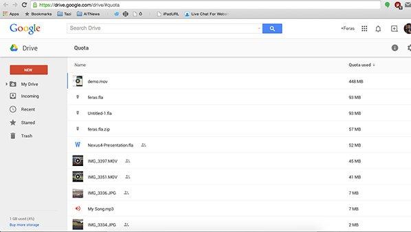 GoogleDriveQuota