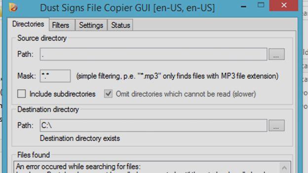 Dust Signs File Copier